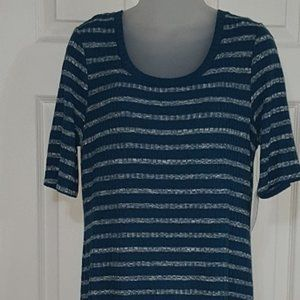 Kensie Teal and White Sweater Dress L(9)
